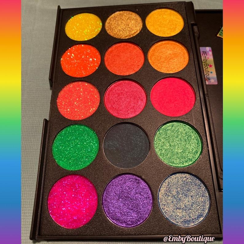 d5a5a62dacbe5 Pride Rainbow Vegan Eyeshadow & Glitter Palette