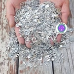 Clean bulk silver charm mix, PICK YOUR CHARMS or get a random charm mix, fast shipping, diy charms,plz read below (bcs)
