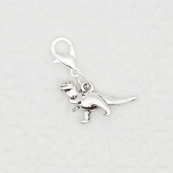 10 x Tibetan Silver T.REX Tyrannosaurus Dinosaur 3D Charms Pendants  Beads