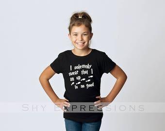 """Harry Potter """"I Solemnly Swear..."""" T-Shirt, Soft Tee - Tween, Teen, Junior, Girls, Boys."""