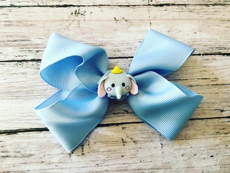 Disney Theme elephant Dumbo Tigger Pooh hair bow clips