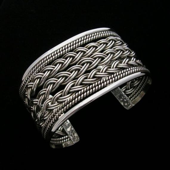 Silver cuff bracelet Cuff bracelets for women Mexican jewelry  675bf6cf86