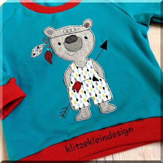 Stick FileEmbroidery stick motif Indian bear bear Doodle 10x10