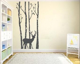 Deer Wall Decal | Etsy