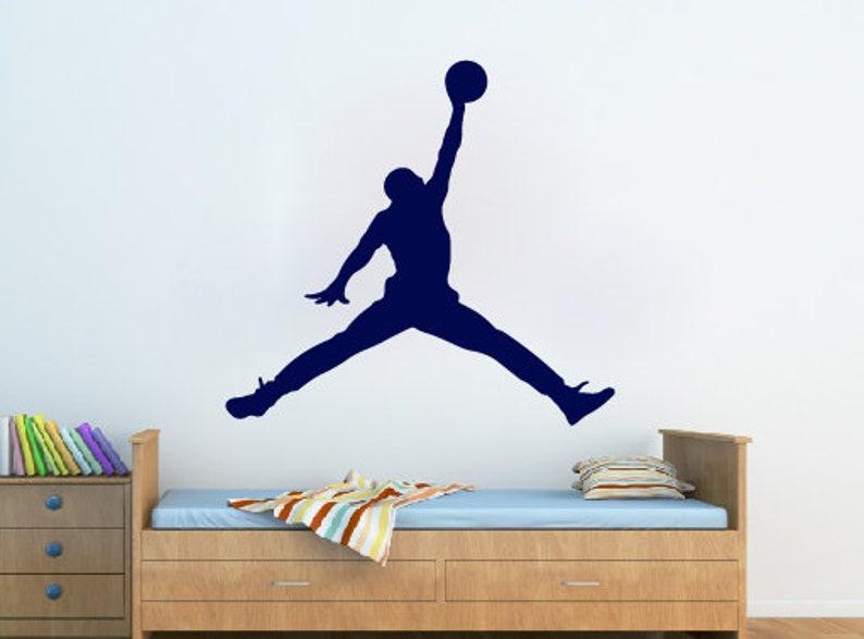 san francisco acf43 a984e Michael Jordan Wall Decal Jumpman Decal Basketball Wall   Etsy