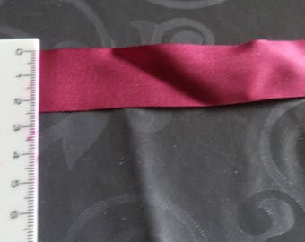 2 m 50 Ribbon width 2.5 cm in Burgundy new good quality