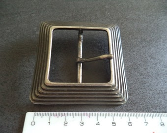 square silver metal belt buckle