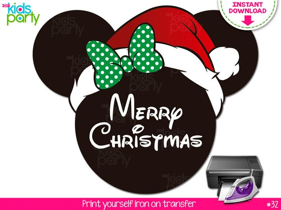 1ffc704c6d566 INSTANT DOWNLOAD Christmas Minnie Mouse Print Yourself Iron on Transfer