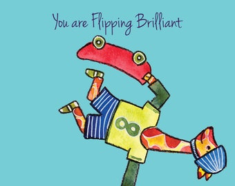 Flipping Brilliant Giraffe Greetings Card