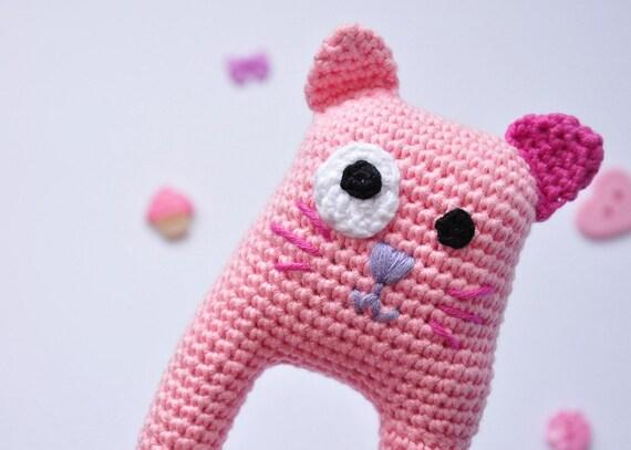 Baby Meisje Haak Kat Rammelen Pasgeboren Speelgoed Katoen Kat Etsy
