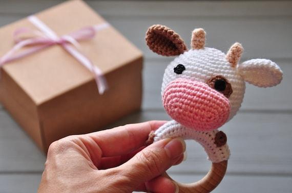 Vaca amigurumi no Elo7 | Elis Baby Decor (10F2092) | 378x570