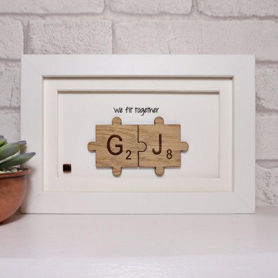 Handmade Couples Jigsaw Art Wedding Gift Engagement Gift Etsy