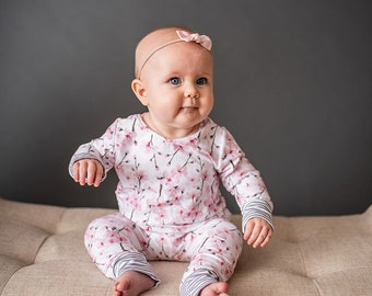 f4533f31509 Baby Jumper - Kenzer Jumper - Girl Jumper - Mix-match Jumper - Cherry  Blossom Jumper