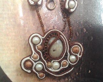 """Necklace Soutache """"Saturn"""""""