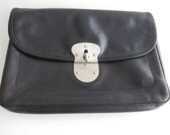 Longchamp vintage Gatsby black leather bag. Signed. Rare model. 1ca768ba2b