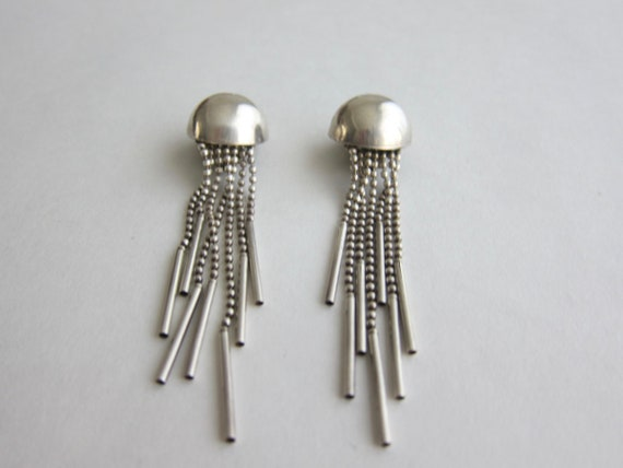 1960, important earrings dome clips space age. Rar