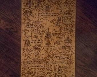 Wood Burned Mewni Map