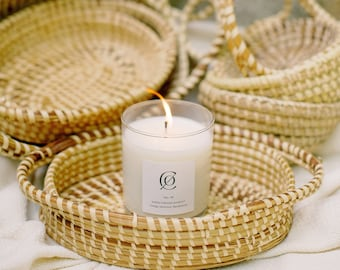 Sweetgrass Basket Candle | 9 oz Soy Candle | Charleston SC Inspired Candles
