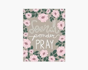 Search Ponder Pray