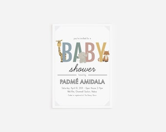 Baby Shower Invitation with Envelopes