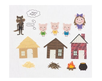 Three Little Pigs - Flannel Board Story