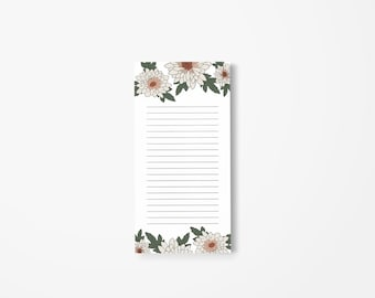 Shopping List Notepad (Flowers)