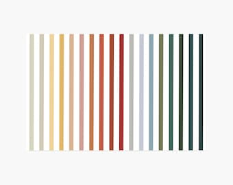 Rainbow Stripe Paper Placemats - 10PK