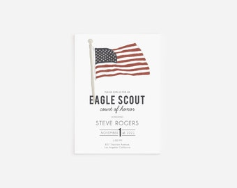 Eagle Scout Court of Honor Invitation with Envelopes