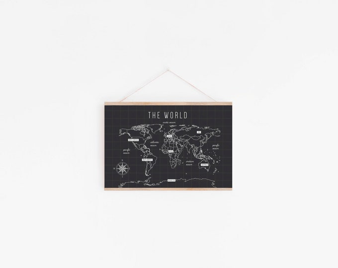 Featured listing image: World Map Poster