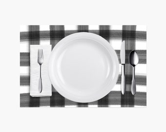 Gingham Paper Placemats - 10PK