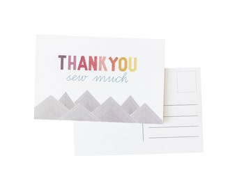 Thank You Sew Much Postcard Pack