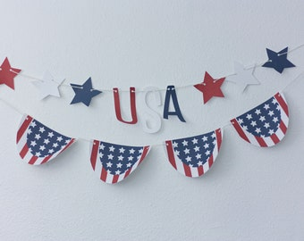 USA Patriotic Banners 2 PACK
