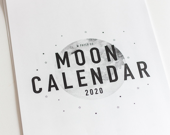 Featured listing image: 2020 Moon Calendar