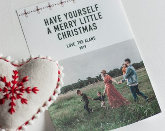 Editable, Printable Photo Christmas Card, Have Yourself A Merry Little Christmas