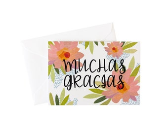 Muchas Gracias Thank You Card Pack