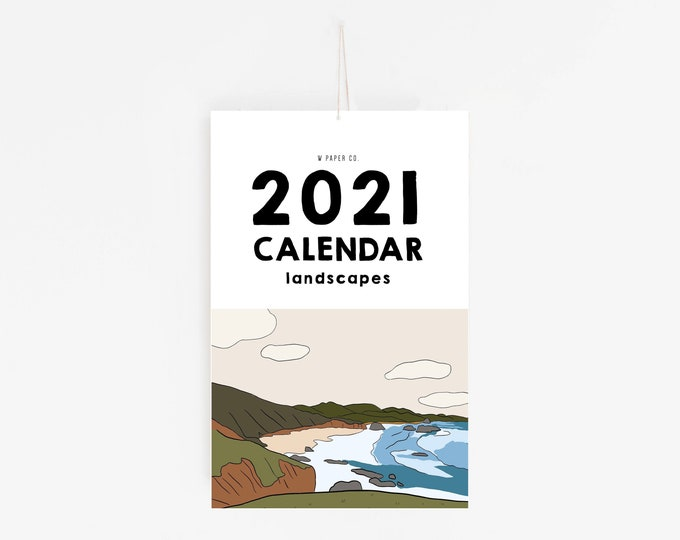 Featured listing image: 2021 Landscapes Calendar