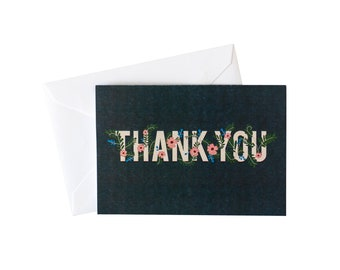 Thank You Flowers Card Pack
