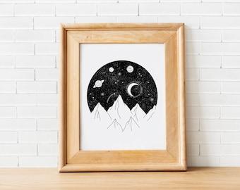 Night Sky Print