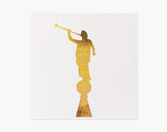 Angel Moroni foiled print