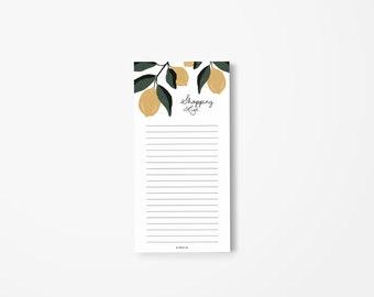 Shopping List Notepad (Lemons2)