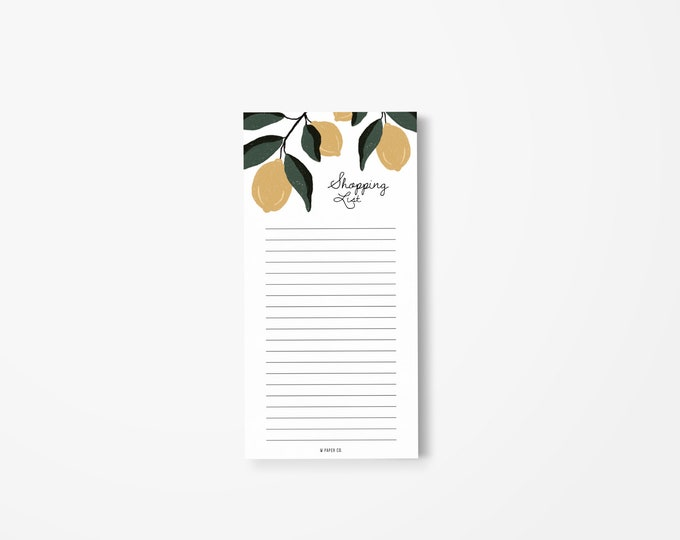 Featured listing image: Shopping List Notepad (Lemons2)