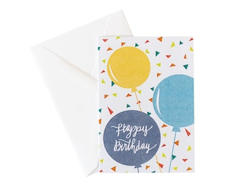 Happy Birthday Balloon Card Pack