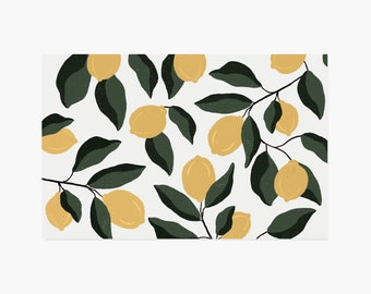 Lemon Paper Placemats - 10PK