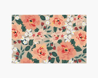 Fall Blooms Paper Placemats - 10PK