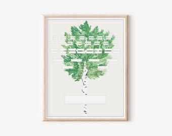 Printable Blank Family Tree Chart - 5 Generation Pedigree - Aspen Tree