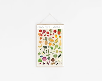 Common Fruits & Vegetables Poster