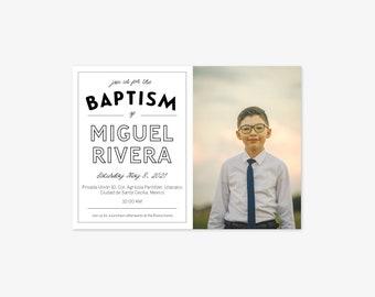 Baptism Invitation with Envelopes (Photo)