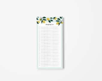 Lemon Shopping List Notepad • Market List Notepad • Magnet Pad • Grocery List Pad For Fridge • Food Shopping List • Gift For Mom