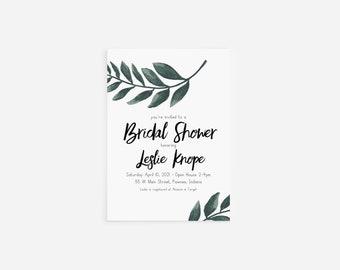 Bridal Shower Invitation with Envelopes