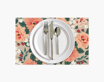 Fall Bloom Paper Placemats - 10PK